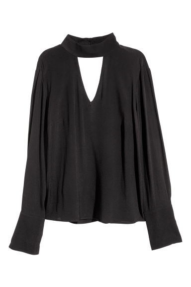 Crêpe blouse - Black - Ladies | H&M