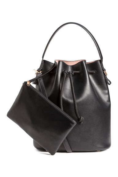 Bucket bag with a clutch - Black -  | H&M IE