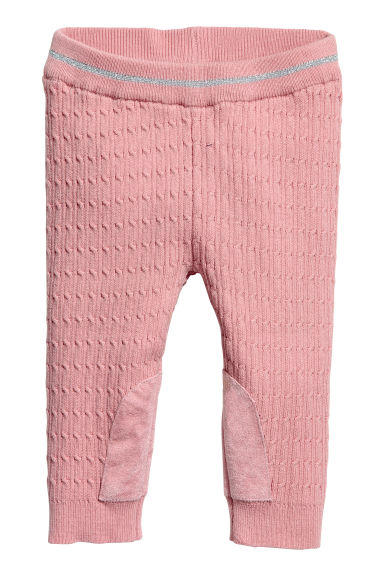 Cable-knit leggings - Vintage pink -  | H&M GB