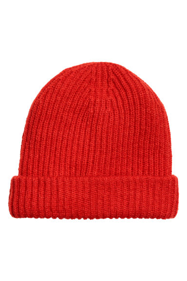 Hat in a mohair blend - Bright red - Ladies | H&M CN