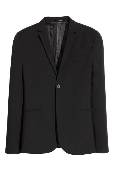 Jacket Super skinny fit - Black - Men | H&M