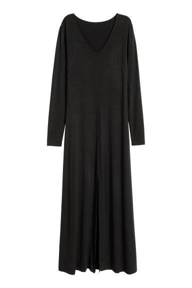 Jersey maxi dress - Black - Ladies | H&M CN