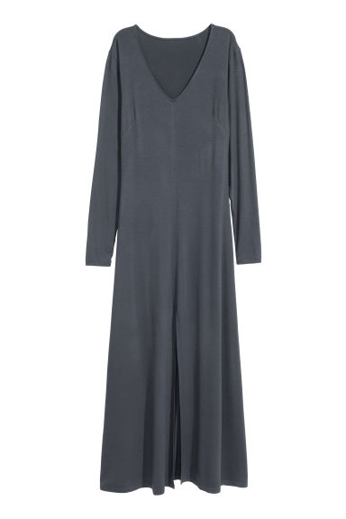 Jersey maxi dress - Dove grey - Ladies | H&M