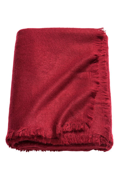 Soft blanket - Dark red -  | H&M IE
