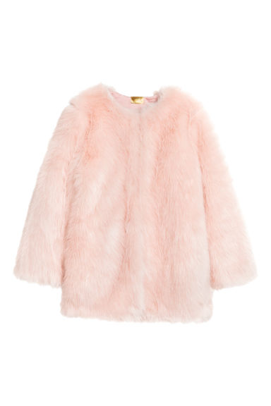 Faux fur jacket - Light pink -  | H&M