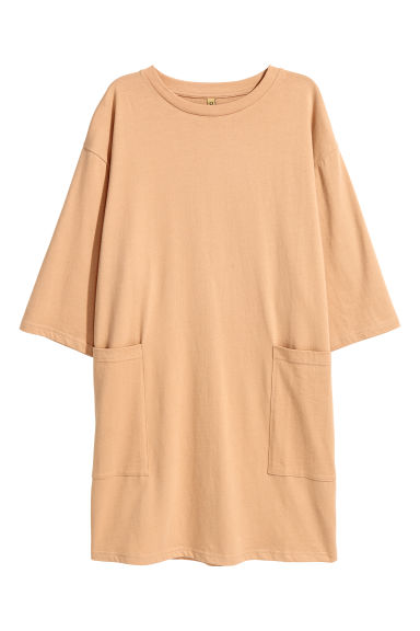 Wide printed T-shirt dress - Beige - Ladies | H&M
