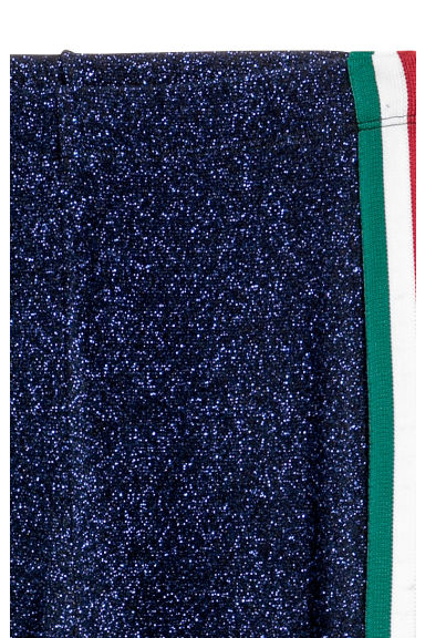 Leggings glitter - Blu/glitter - DONNA | H&M IT
