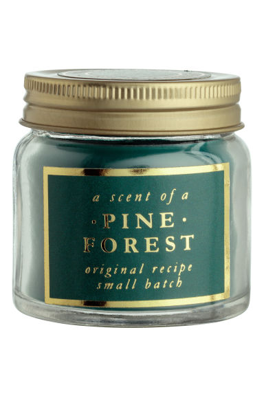 Scented candle in glass holder - Dark green/Pine Forest -  | H&M IE