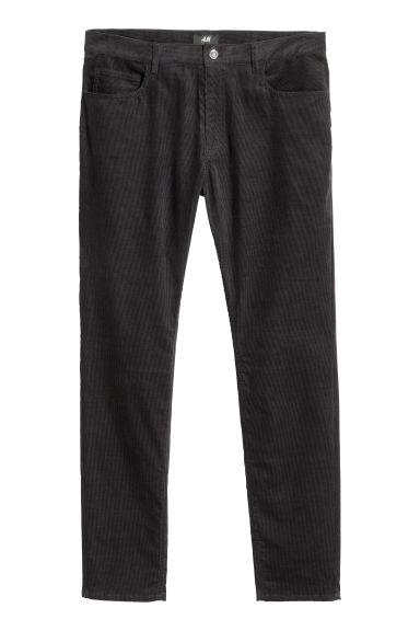 Corduroy trousers Skinny fit - Dark blue -  | H&M