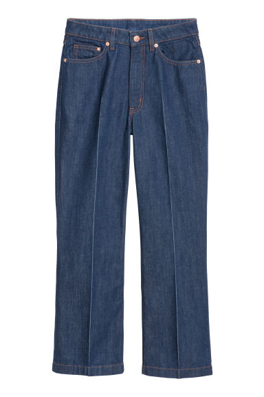 Kickflare High Ankle Jeans - 深蓝色 -  | H&M CN