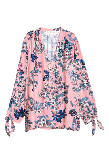 V-neck blouse - Pink -  | H&M GB