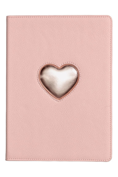 "iPad-case 9,7"" - Poederroze/hart -  