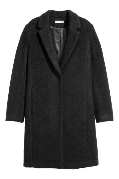 Short wool-blend coat - Black -  | H&M GB
