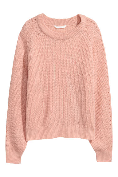 Ribbed jumper - Powder pink -  | H&M