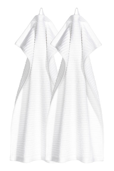 Essuie-mains, lot de 2 - Blanc - Home All | H&M FR
