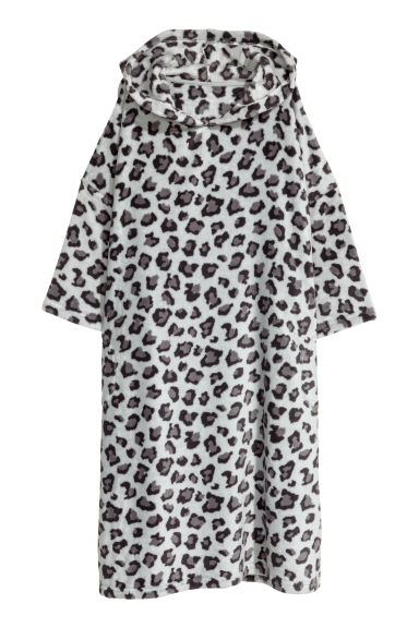 Fleece kaftan - Grey/Leopard print - Ladies | H&M CN