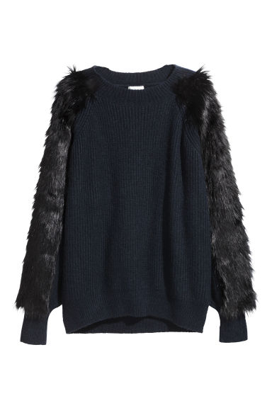 Knitted jumper - Dark blue - Ladies | H&M IE