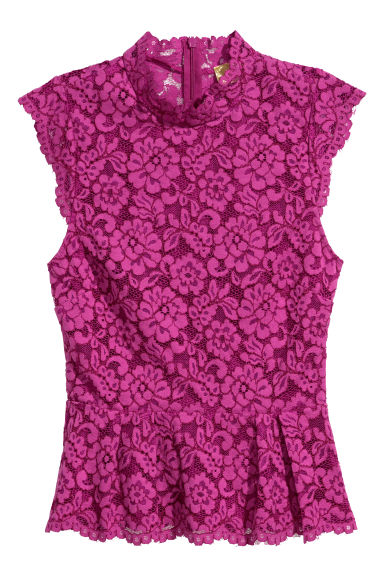 Lace top - Magenta - Ladies | H&M
