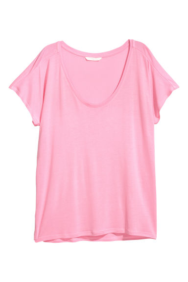 Viscose top - Pink -  | H&M GB