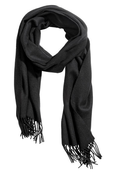 Wool scarf - Black - Ladies | H&M CN