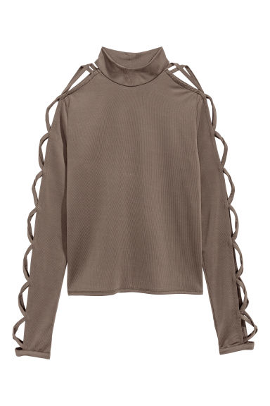 Jersey top - Khaki green - Ladies | H&M CN