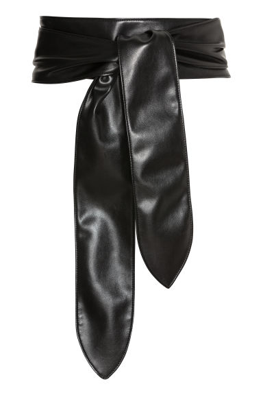 Soft tie belt - Black - Ladies | H&M CN