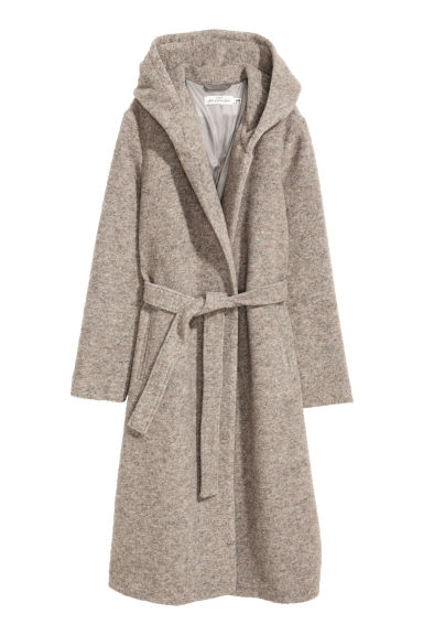 Wool-blend coat - Beige marl -  | H&M IE