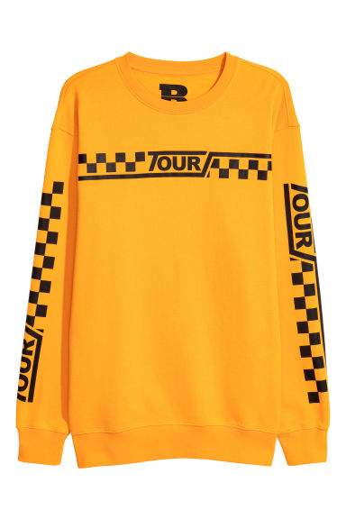 Sweatshirt with print motifs - Bright yellow -  | H&M
