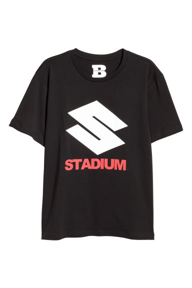 T-shirt with a print motif - Black/Stadium - Men | H&M