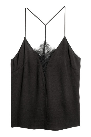 Top à encolure en V - Noir -  | H&M FR