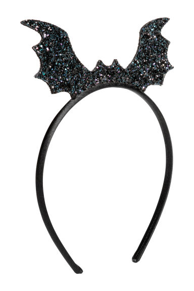 Alice band with a bat - Black/Glittery - Kids | H&M CN