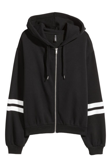 Hooded jacket - Black -  | H&M