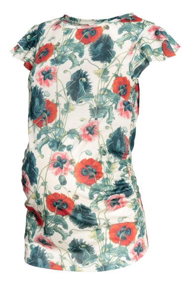 MAMA Patterned top - Natural white/Floral -  | H&M GB