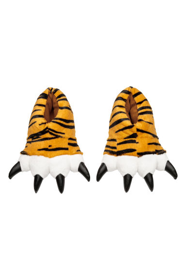 Soft slippers - Yellow/Tiger - Kids | H&M
