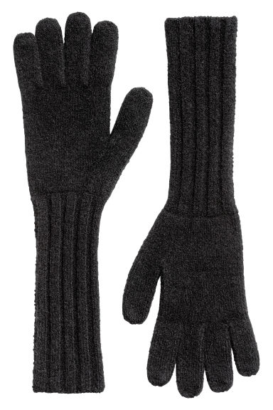 Cashmere-blend gloves - Black - Ladies | H&M CN
