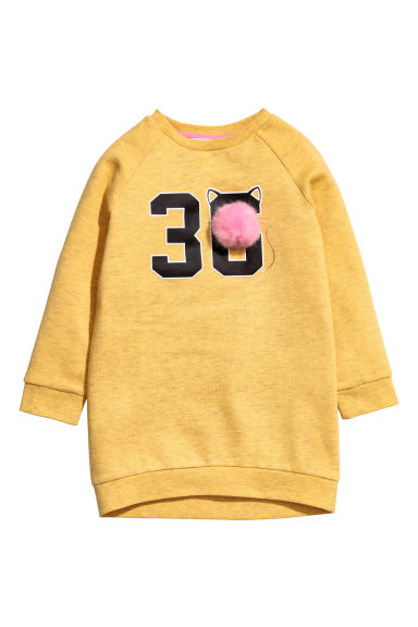 Sweat à motif - Jaune chiné -  | H&M FR