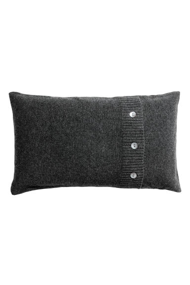 Cashmere-blend cushion cover - Anthracite grey - Home All | H&M CN