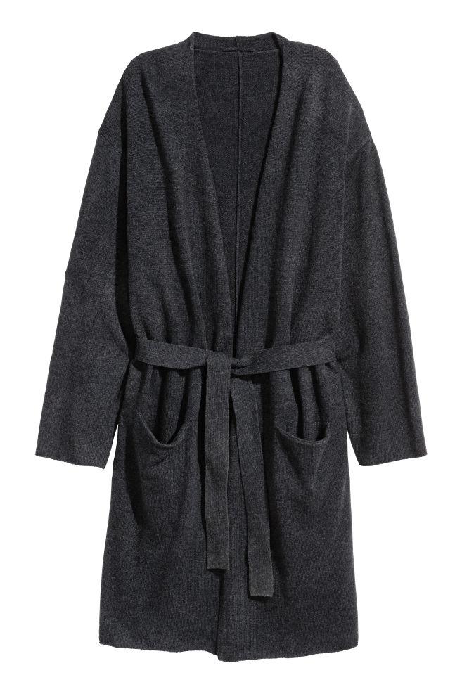 b8ac4f44 Morgenkåpe i kasjmirmiks - Antrasittgrå - Home All   H&M ...