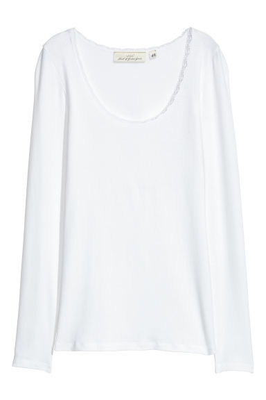 Tricot top - Wit -  | H&M NL