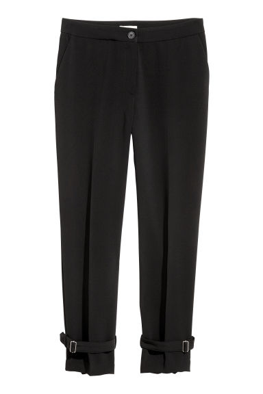 Wide trousers - Black -  | H&M IE