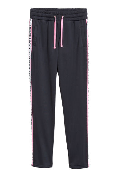 Sportbroek - Donkerblauw/You rock -  | H&M NL