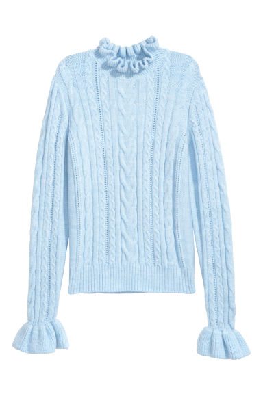 Cable-knit jumper - Light blue - Ladies | H&M CN