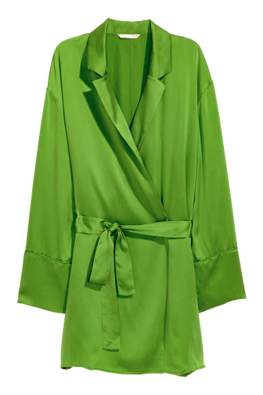 Silk jacket - Green - Ladies | H&M