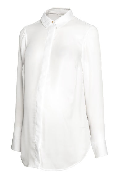 MAMA Long-sleeved blouse - White -  | H&M