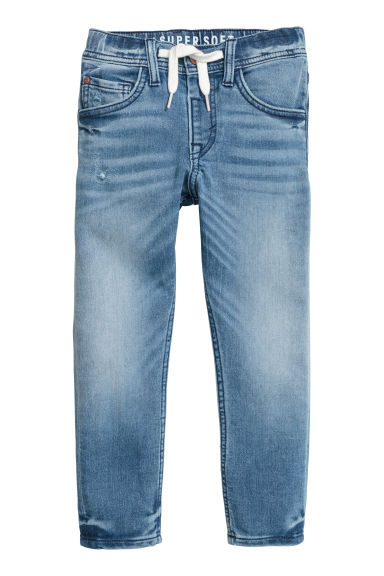 Super Soft denim joggers - Denim blue -  | H&M CN