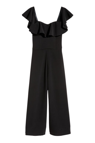 Off-the-shoulder jumpsuit - Black -  | H&M