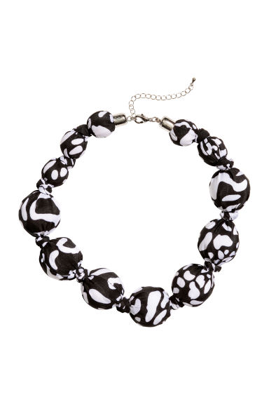 Necklace - Black/White - Ladies | H&M