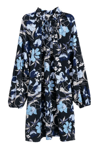 Patterned dress - Dark blue - Ladies | H&M IE