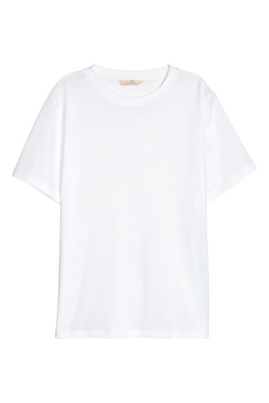 Wide T-shirt - White -  | H&M