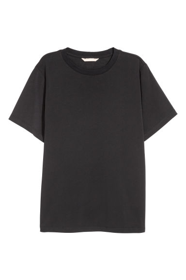 Wide T-shirt - Black -  | H&M
